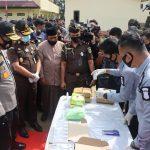 Polda Aceh Gelar Pemusnahan Barang Bukti Narkotika