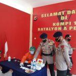 Antisipasi Penyebaran Covid-19, Satuan Brimob Polda Aceh Laksanakan Rapid Test