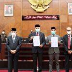 Pemerintah Aceh bersama DPRA Teken KUA-PPAS 2021