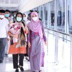 Ketua TP PKK Aceh Sambut Kedatangan Menteri PPPA RI