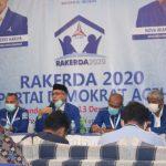 RAKERDA Partai Demokrat Aceh Lahirkan Lima Rumusan