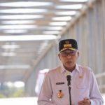 Gubernur Nova Resmikan Jembatan Bintah Aceh Jaya