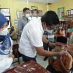 Puluhan Ribu Siswa Aceh Timur Gunakan Masker Secara Serentak