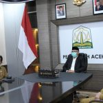 Gubernur Aceh Ikuti Peresmian PT. Bank Syariah Indonesia Secara Virtual