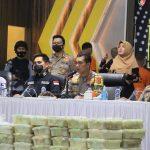 Polda Aceh Ungkap Kasus Peredaran Narkotika Jaringan Internasional Seberat 353 Kg