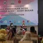 Dinas Pendidikan Aceh Jalin Kerjasama dengan Jissho Foundation