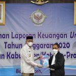 Gubernur Serahkan Laporan Keuangan Pemerintah Aceh Tahun 2020 kepada BPK RI