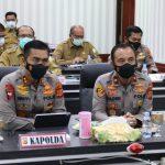 Kapolda Aceh ikut Rakornas Pengendalian Karhutla Melalui Vidcom