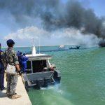 Ditpolairud Polda Aceh Tenggelamkan 2 Kapal Asing yang Melakukan Pencurian Ikan