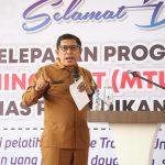 Kepala Dinas Pendidikan Aceh Lepas Mobile Training Unit ke 30 di SMK Aceh