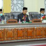 DPRK Kota Banda Aceh Gelar Paripurna Pengesahan Perubahan Prolek Tahun 2021