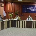 Gubernur Nova dan Doni Monardo Ikuti Rakor Penanganan Covid-19 dan Mitigasi Bencana
