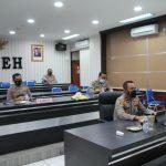 Selesai Pelaksanaan Serbuan Vaksinasi Massal, Wakapolda Aceh Ikuti Vicon Dengan Asops Kapolri