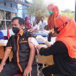 Jajaran ASN Diskominfo Gayo Lues Terima Vaksinasi Covid-19 Dosis Pertama