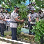 Peringati Hut Bhayangkara Ke – 75, Jajaran Polres Simeulue Ziarah  Ditaman Makam Pahlawan