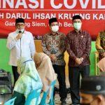 Satgas Covid-19 Aceh Gelar Vaksinasi bagi Guru Dayah Darul Ihsan