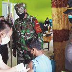 Danpos Ramil Simeulue Cut Pantau Serbuan vaksin Koramil 02 Kodim 0115 Simeulue