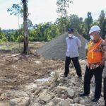 Sekda Aceh Tinjau Pembangunan Irigasi Sigulai di Simeulue